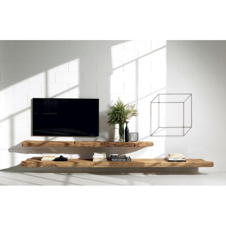 Porta Mensole In Legno.Line Nature Design Mensola Porta Tv Attanasio Shop