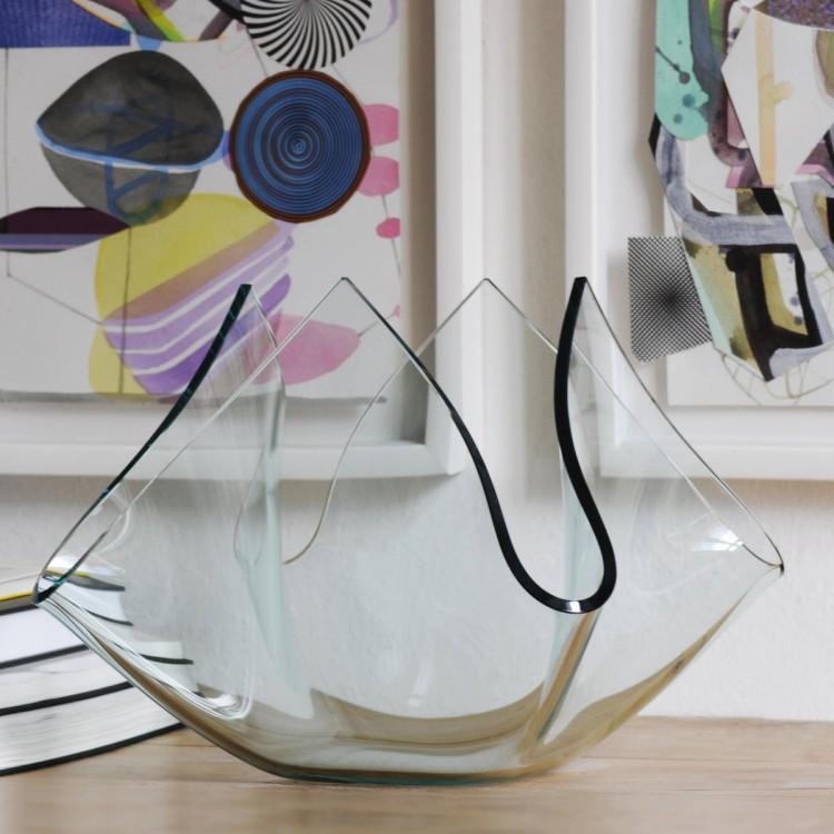 Cartoccio q vaso in vetro fontanaarte attanasio shop for Oggetti per ufficio