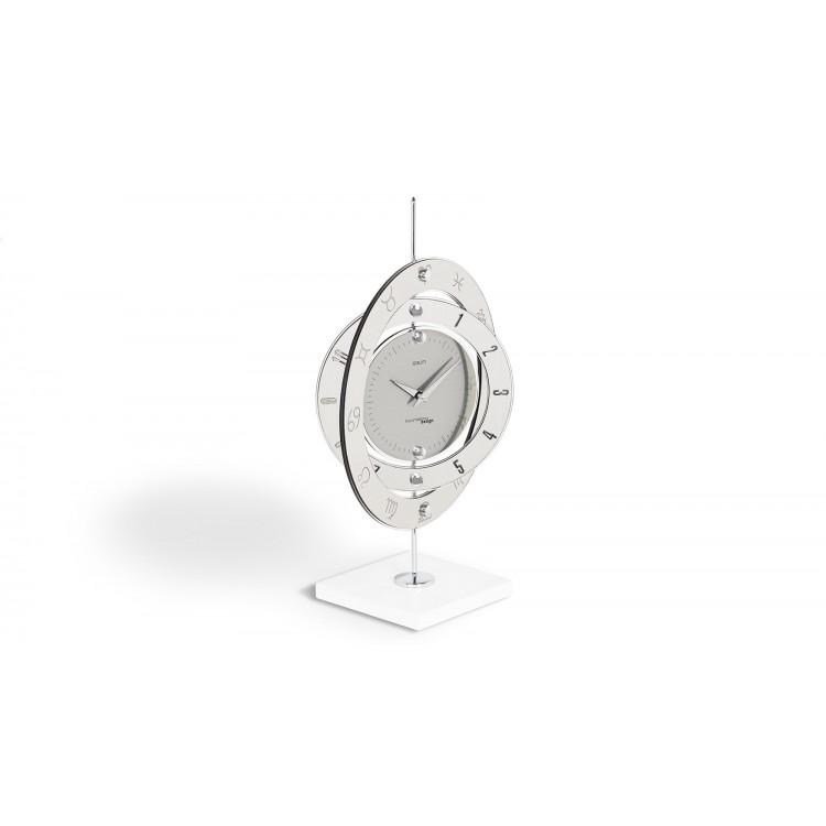 Latest ipsum m orologio da tavolo tondo metallo for Orologi da tavolo moderni