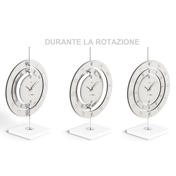 Simple ipsum m orologio da tavolo tondo metallo for Orologi da tavolo moderni