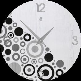 BRIO CIRCLES COLD orologio da muro Lignis