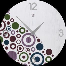 BRIO CIRCLES COLORS orologio da muro Lignis
