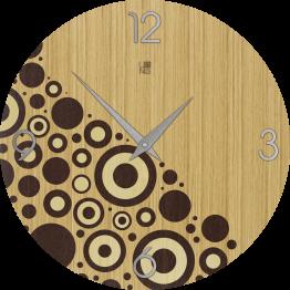 BRIO CIRCLES WARM orologio da muro Lignis
