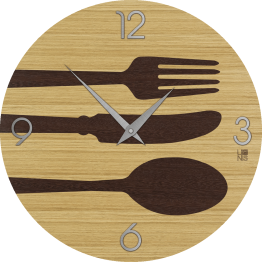 OBJECTS CUTLERY WARM orologio da muro Lignis