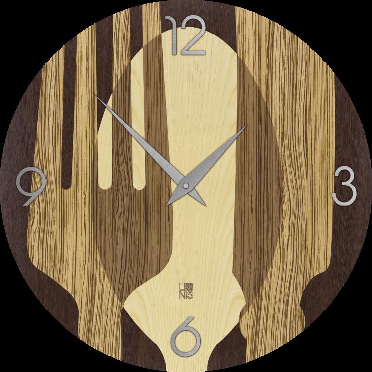 OBJECTS SOVRAPOSATE WARM orologio da parete in legno tondo colore ...
