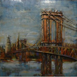 PONTE MANHATTAN quadro in metallo Nature Design