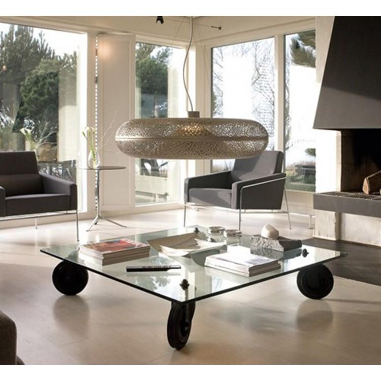 Tavolo con ruote tavolino basso quadrato o rettangolare Fontana ...
