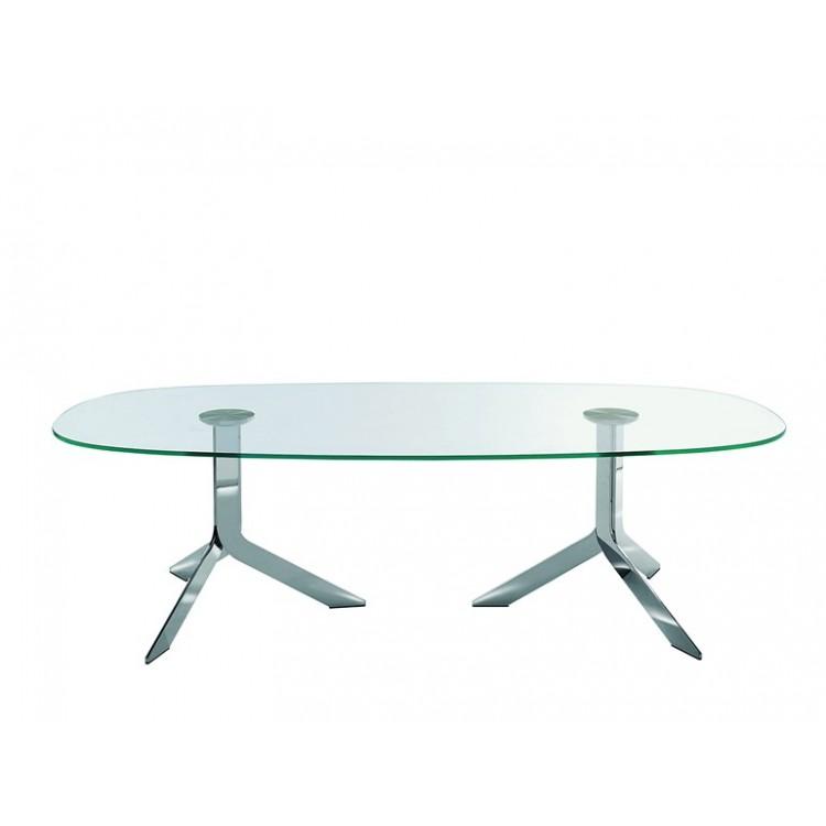 Iblea desalto tavolo attanasio shop - Tavolo in cristallo ovale ...
